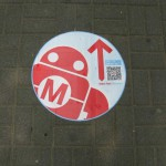 MF guiding floor stickers