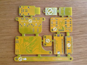 And the yellow panel..  Dirty dirty DIRTY soldermask (check topleft)